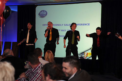 The Noise Boys at a corporate event.